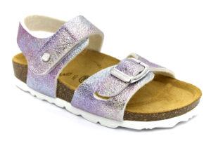 grunland luce sb1571 40 fuxia multi scarpe ecopelle strappi plantare in sughero sandali estive da bambina collezione primavera estate