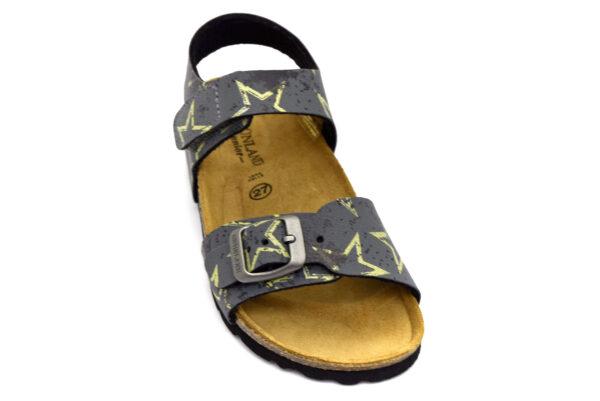 grunland luce sb1683 40 grigio scarpe ecopelle strappi plantare in sughero sandali estive da bambino collezione primavera estate