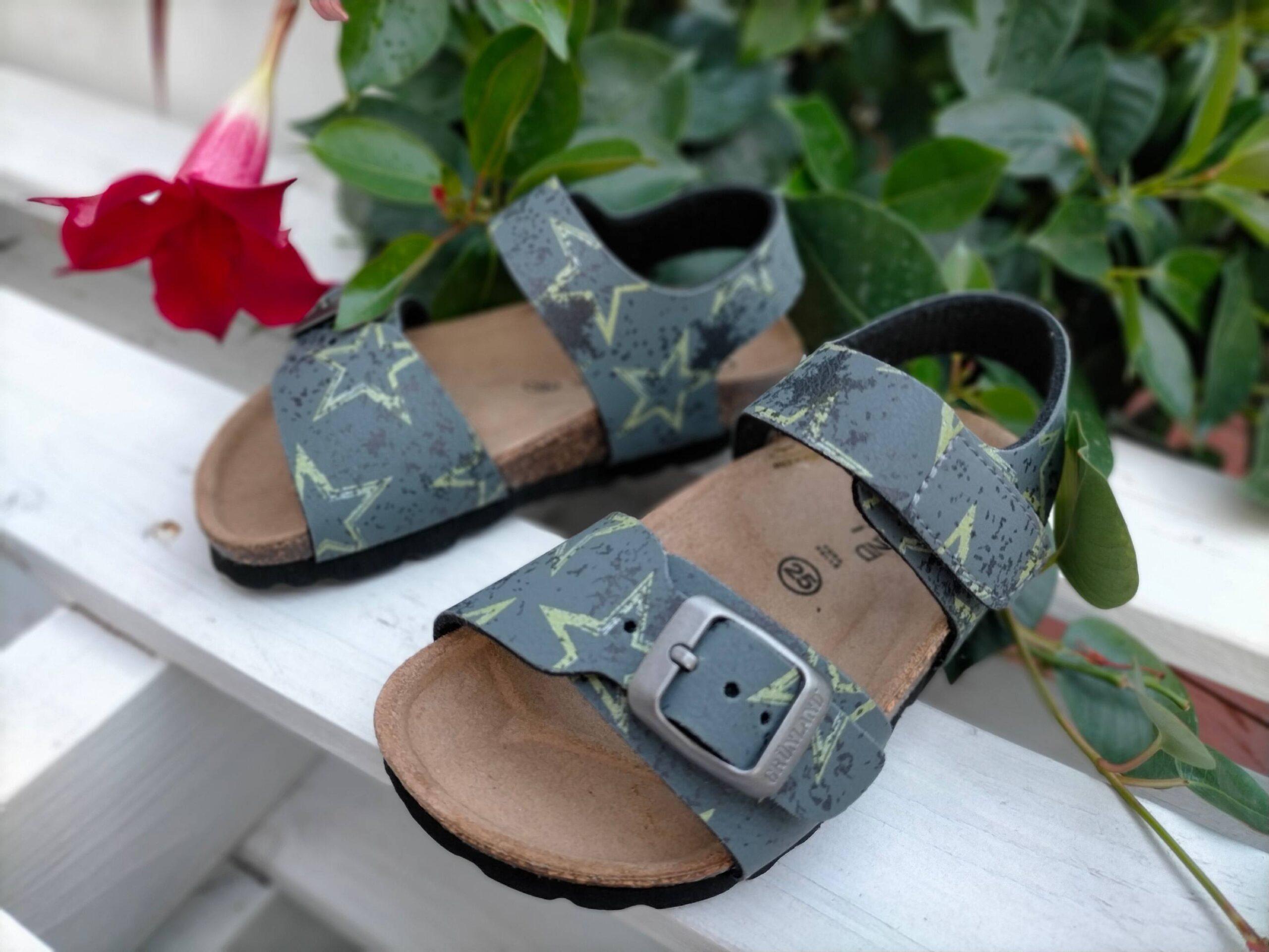 grunland luce sb1683 40 grigio sintetico fibbia plantare in sughero sandali estivi da bambino collezione primavera estate