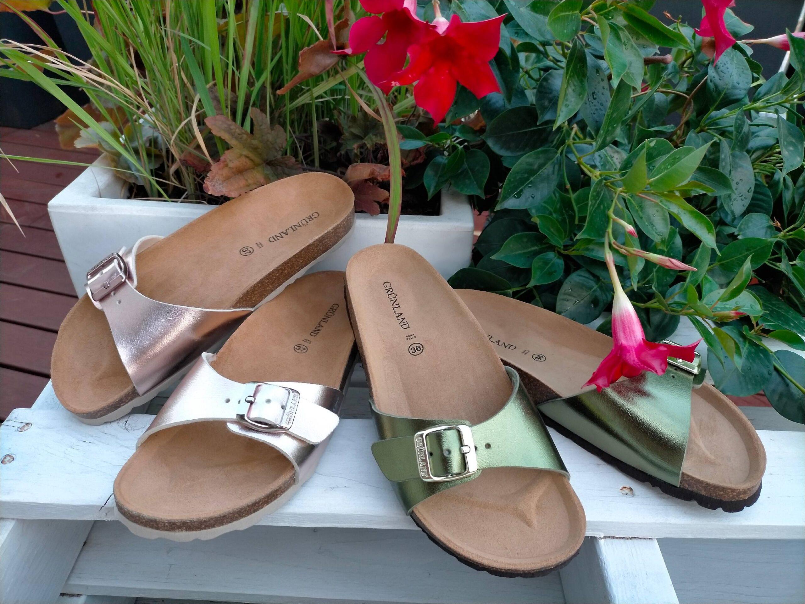 grunland sara cb2382 40 oliva cipria ciabatte pantofole sintetico fibbia plantare in sughero ciabatte pantofole estive da donna collezione primavera estate