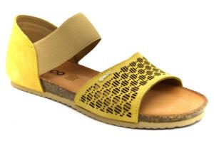 igieco 7184433 giallo scarpe vera pelle slipon plantare in sughero sandali estive da donna collezione primavera estate
