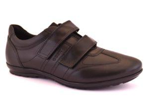 geox u74A5d 00043 c9999 symbol nero scarpe vera pelle strappi sneakers invernali da uomo collezione autunno inverno