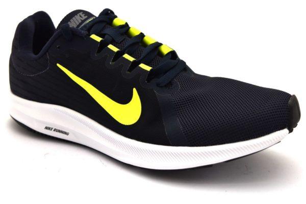 NIKE 908984 007 DOWNSHIFTER 8 BLU Giallo Scarpe Sneaker Running Ginnastica Uomo Palestra