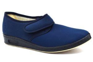 Gaviga 2193 blu Pantofola elasticizzata adatta per la riabilitazione. Scarpe in tessuto ottime per le persone anziane e per coloro che hanno piedi deformati