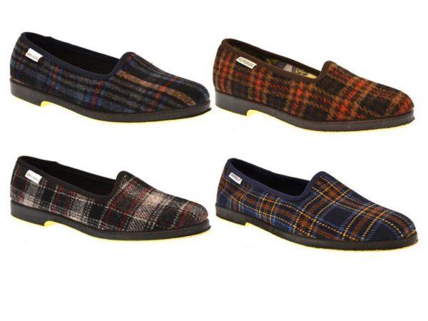 Superga 3329 Pantofola in panno invernale classica quadri collezzione autunno inverno babbuccia slip on mocassino casa camera calde