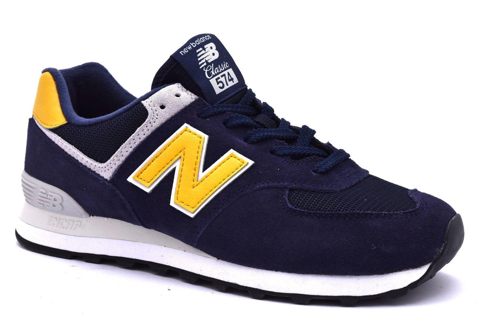 new balance 574 uomo gialle e blu